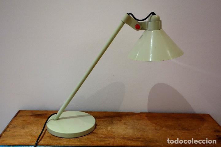 LÁMPARA FLEXO DE MESA VINTAGE AÑOS 60 METAL DESPACHO INDUSTRIAL (Vintage - Lámparas, Apliques, Candelabros y Faroles)