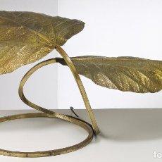 Vintage: TOMMASO BARBI TABLE LAMP . MAGNÍFICA LÁMPARA DE MESA ORIGINAL AÑOS '70 . LATÓN DORADO. Lote 106683847