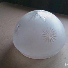 Vintage: TULIPA CRISTAL PARA LAMPARA, CRISTAL AL ACIDO I TALLADO. Lote 109085639