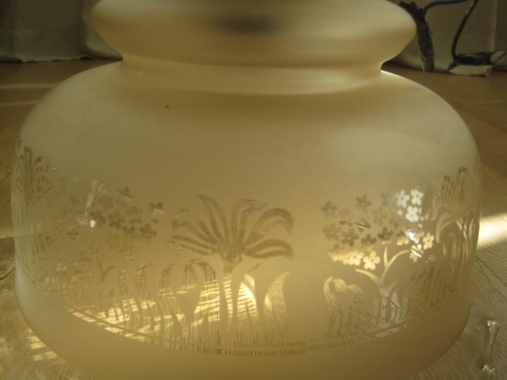 Vintage: LAMPARA TECHO BRONCE Y TULIPA CRISTAL VINTAGE-- 50 cm altura--30 diámetro - Foto 11 - 61256455
