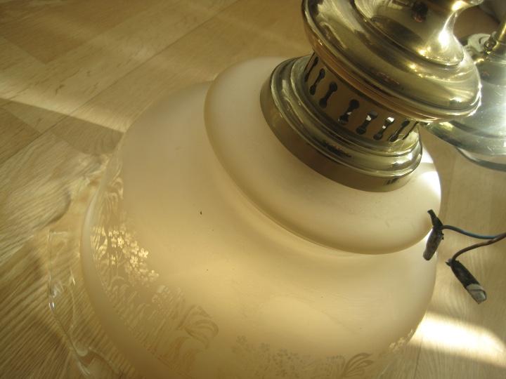 Vintage: LAMPARA TECHO BRONCE Y TULIPA CRISTAL VINTAGE-- 50 cm altura--30 diámetro - Foto 13 - 61256455