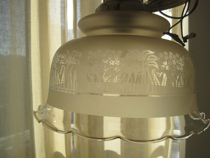 Vintage: LAMPARA TECHO BRONCE Y TULIPA CRISTAL VINTAGE-- 50 cm altura--30 diámetro - Foto 20 - 61256455