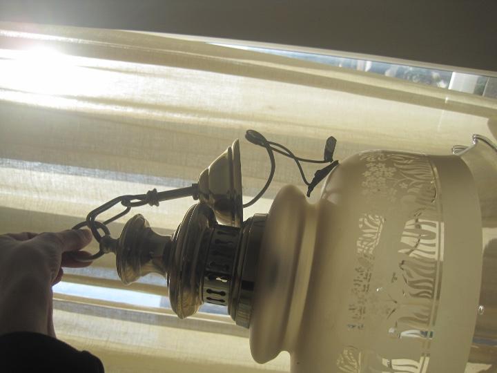 Vintage: LAMPARA TECHO BRONCE Y TULIPA CRISTAL VINTAGE-- 50 cm altura--30 diámetro - Foto 21 - 61256455
