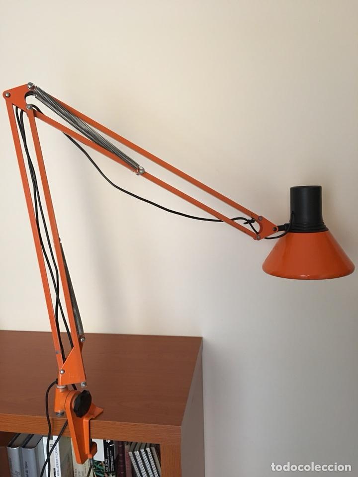 Vintage: ANTIGUA LAMPARA DE SOBREMESA - ANTIGUO FLEXO FASE - COLOR NARAJA - VINTAGE AÑOS 60-70 - Foto 5 - 109264450