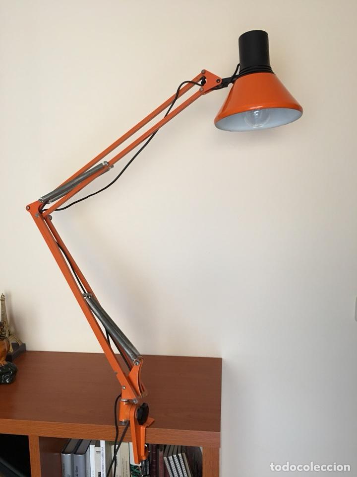 Vintage: ANTIGUA LAMPARA DE SOBREMESA - ANTIGUO FLEXO FASE - COLOR NARAJA - VINTAGE AÑOS 60-70 - Foto 6 - 109264450