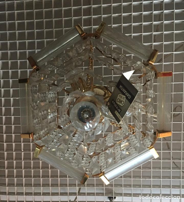 Vintage: Lámpara colgante cristal turco o lágrimas Strass Swarovski - Foto 2 - 110243079