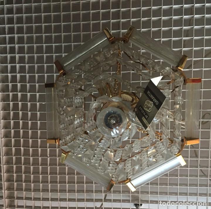 Vintage: Lámpara colgante cristal turco o lágrimas Strass Swarovski - Foto 4 - 110243079