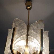 Vintage: LAMPARA VINTAGE CARL FAGERLUND ORREFORS. SUECIA. CRISTAL RUGIADO MURANO BAROVIER. 1960. Lote 110811927