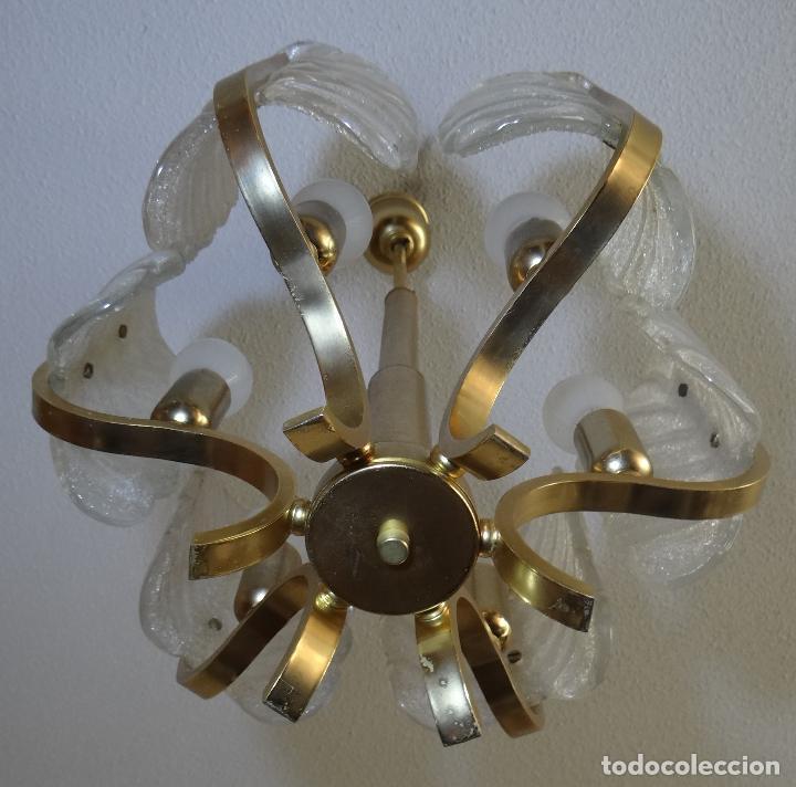Vintage: LAMPARA VINTAGE CARL FAGERLUND ORREFORS. SUECIA. CRISTAL RUGIADO MURANO BAROVIER. 1960 - Foto 3 - 110811927