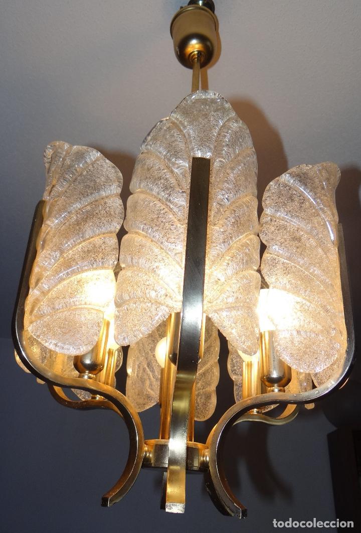 Vintage: LAMPARA VINTAGE CARL FAGERLUND ORREFORS. SUECIA. CRISTAL RUGIADO MURANO BAROVIER. 1960 - Foto 4 - 110811927