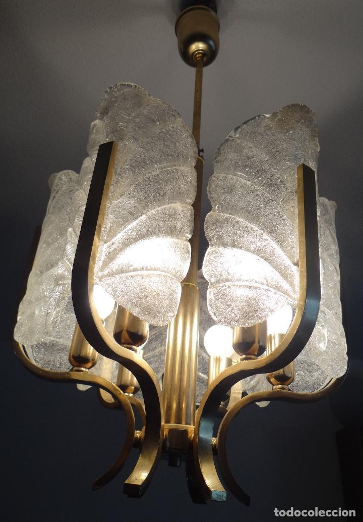 Vintage: LAMPARA VINTAGE CARL FAGERLUND ORREFORS. SUECIA. CRISTAL RUGIADO MURANO BAROVIER. 1960 - Foto 7 - 110811927