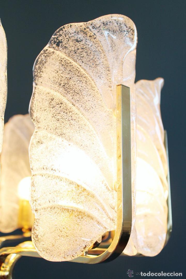 Vintage: LAMPARA VINTAGE CARL FAGERLUND ORREFORS. SUECIA. CRISTAL RUGIADO MURANO BAROVIER. 1960 - Foto 8 - 110811927