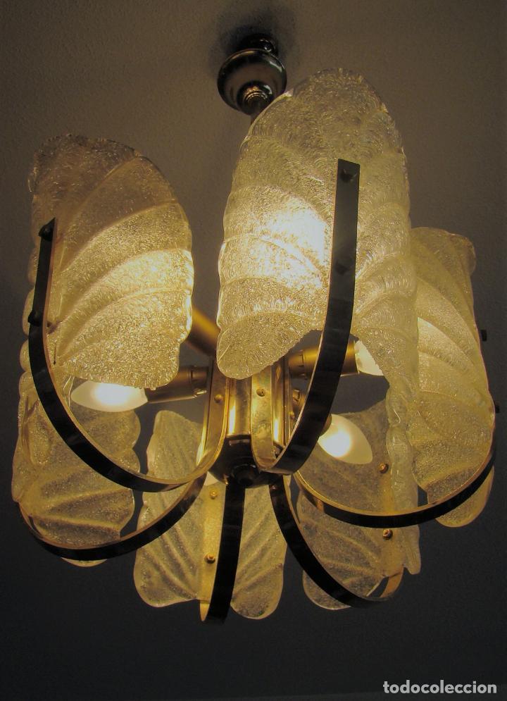 Vintage: LAMPARA VINTAGE CARL FAGERLUND ORREFORS. SUECIA. CRISTAL RUGIADO MURANO BAROVIER. 1960 - Foto 9 - 110811927