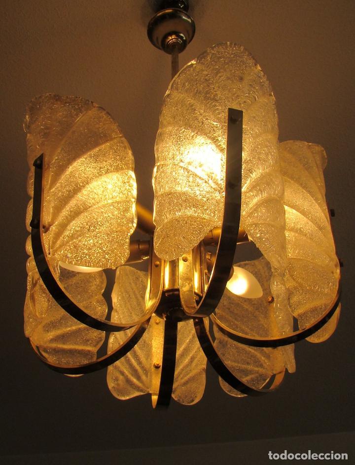 Vintage: LAMPARA VINTAGE CARL FAGERLUND ORREFORS. SUECIA. CRISTAL RUGIADO MURANO BAROVIER. 1960 - Foto 10 - 110811927