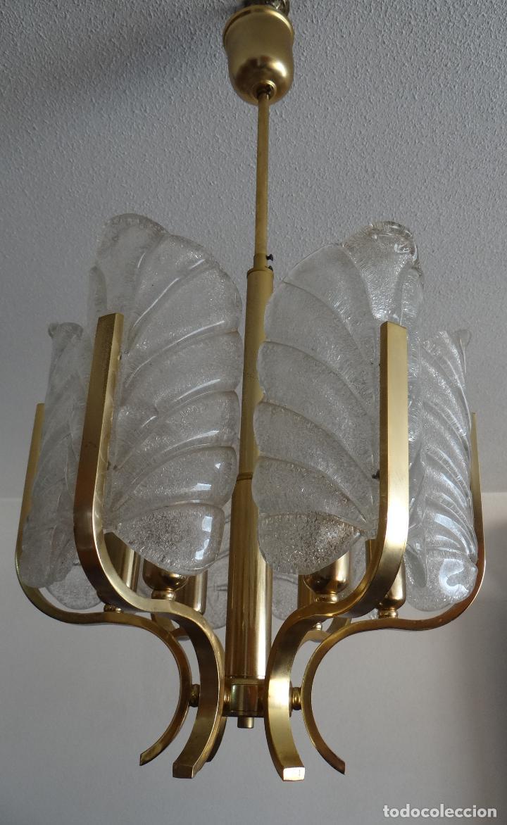 Vintage: LAMPARA VINTAGE CARL FAGERLUND ORREFORS. SUECIA. CRISTAL RUGIADO MURANO BAROVIER. 1960 - Foto 11 - 110811927