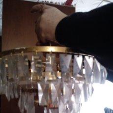 Vintage: LAMPARA VINTAGE DE LAGRIMAS DE CRISTAL. Lote 110949967