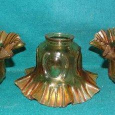 Vintage: TULIPA AMBAR VINTAGE ESTILO MODERNISTA. LOTE TRES UNIDADES. Lote 161123701