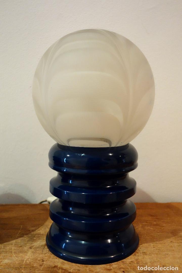 Vintage: Pareja de lámparas de mesa vintage años 60 BELLUX España Space Age lámpara - Foto 3 - 111499891