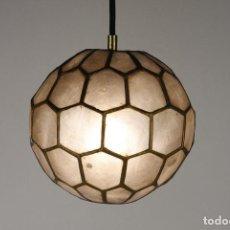 Vintage: 2 LAMPARA TECHO NACAR LATON VINTAGE RETRO AÑOS 60. Lote 111591731