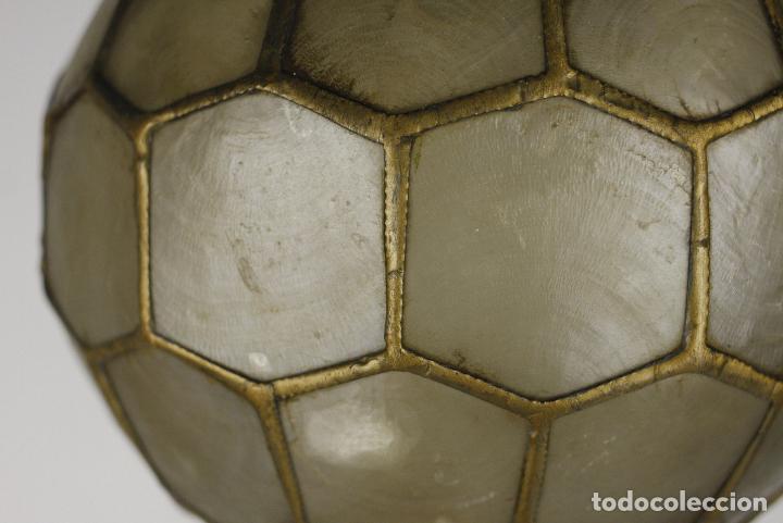 Vintage: 2 lampara techo nacar laton vintage retro años 60 - Foto 5 - 111591731