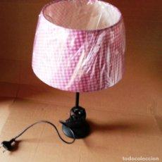 Vintage: LAMPARA DE SOBREMESA TULIPA ROSA. Lote 111921219