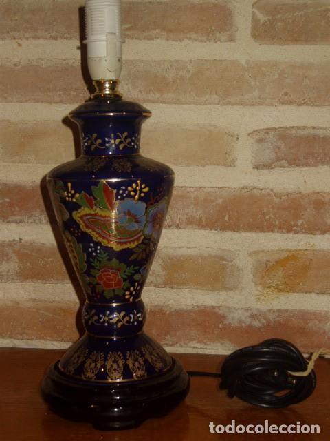 Vintage: LAMPARA DE PORCELANA O CERAMICA ORIENTAL, AZUL COBALTO SOBREMESA.AÑOS 60-70. - Foto 5 - 112153139