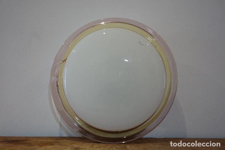 Vintage: Plafón de techo vintage años 80 cristal soplado (Murano?) cocina lámpara - Foto 2 - 114080699