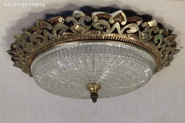 LAMPARA DE TECHO PLAFON DE SOL EN METAL (Vintage - Lámparas, Apliques, Candelabros y Faroles)