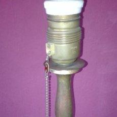 Vintage: LAMPARA DE MADERA POLICROMADA. Lote 114264455