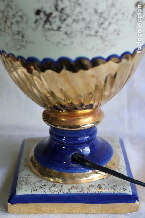 Vintage: LAMPARA DE SOBREMESA ESTILO IMPERIO CERÁMICA VALENCIANA MANISES FIRMADA BONDIA - Foto 6 - 114469447