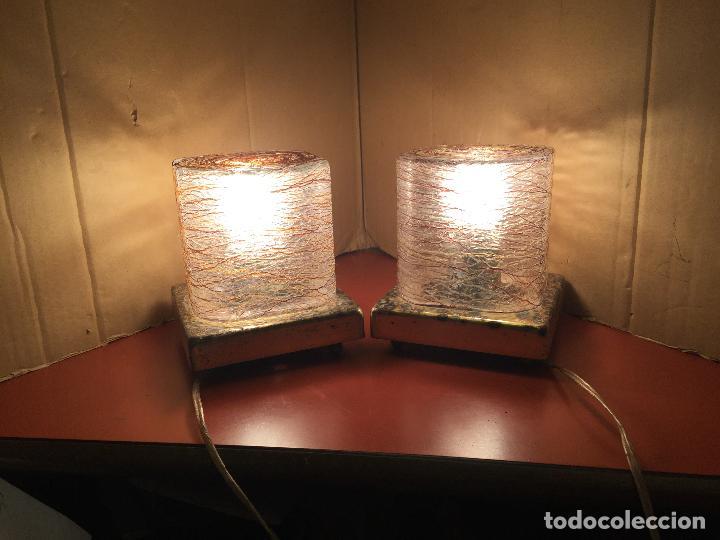 CURIOSA PAREJA DE LAMPARAS VINTAGE. VER FOTOS Y MEDIDAS (Vintage - Lámparas, Apliques, Candelabros y Faroles)