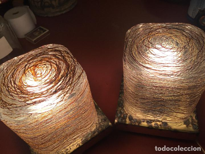 Vintage: Curiosa pareja de lamparas Vintage. Ver fotos y medidas - Foto 2 - 114592827