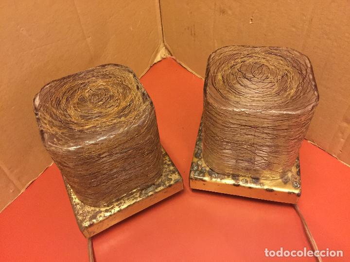 Vintage: Curiosa pareja de lamparas Vintage. Ver fotos y medidas - Foto 3 - 114592827