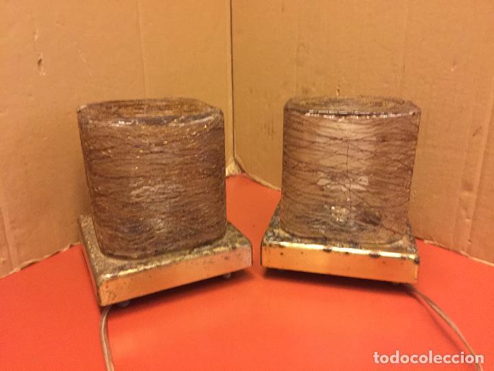 Vintage: Curiosa pareja de lamparas Vintage. Ver fotos y medidas - Foto 4 - 114592827