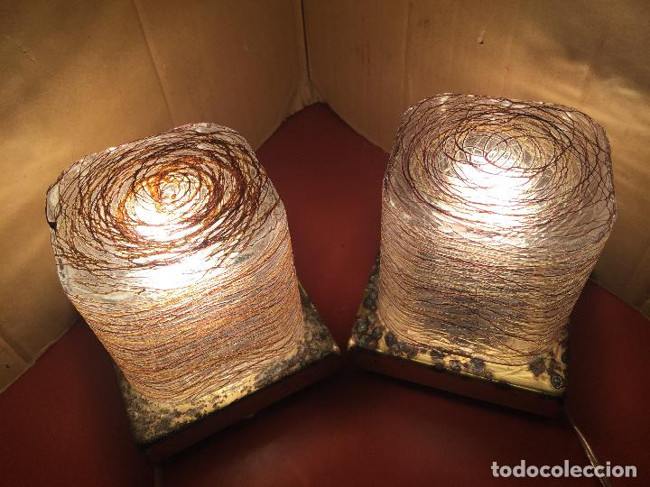 Vintage: Curiosa pareja de lamparas Vintage. Ver fotos y medidas - Foto 10 - 114592827