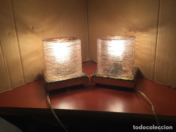 Vintage: Curiosa pareja de lamparas Vintage. Ver fotos y medidas - Foto 11 - 114592827