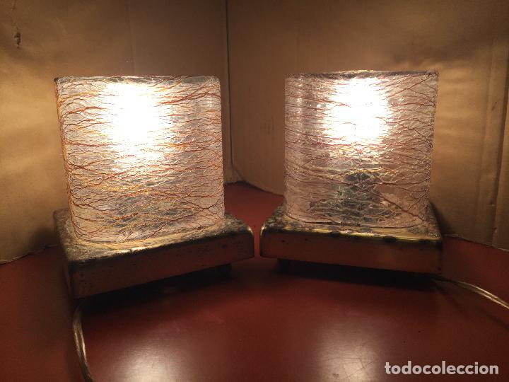 Vintage: Curiosa pareja de lamparas Vintage. Ver fotos y medidas - Foto 15 - 114592827