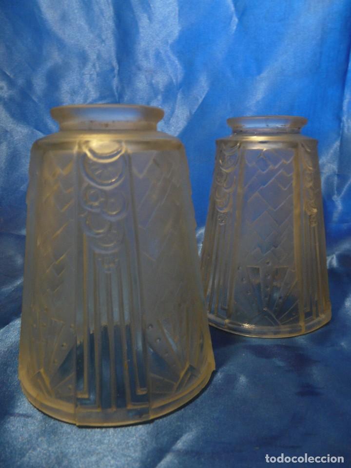 TULIPA (2) ART DECO MATE/CLARA (Vintage - Lámparas, Apliques, Candelabros y Faroles)