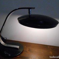 Vintage: LAMPARA DE DESPACHO FASE MODELO 520C-CROMO Y NEGRO -. Lote 115251903