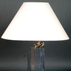 Vintage: LAMPARA DE SOBREMESA CON PIE DE METACRILATO AÑOS 80 FUNCIONA. Lote 115559627