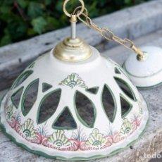 Vintage: BONITA LAMPARA DE TECHO CERÁMICA.. Lote 116567835