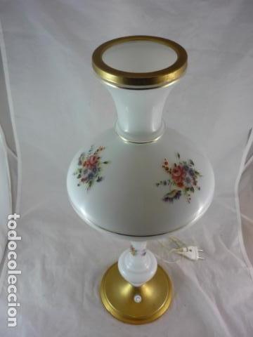 Vintage: Preciosa Lampara Opalina y Laton - 49cm - Años 50 - Foto 4 - 116619395