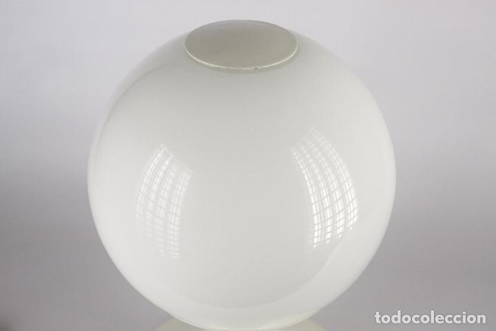 Vintage: Lampara sobremesa TRAMO Joan Antoni Blanc seta tulip blanco cristal vintage retro España 60s - Foto 3 - 117512087
