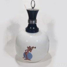 Vintage: AUTÉNTICA LAMPARA DE ÉPOCA CON TULIPA DE CRISTAL BLANCO Y ESCENAS DE LA PANTERA ROSA. Lote 117793655