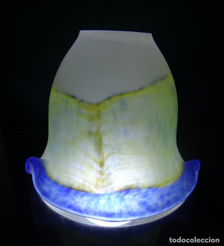 Vintage: TULIPA CRISTAL COLOR ESTILO MURANO - Foto 11 - 132871670