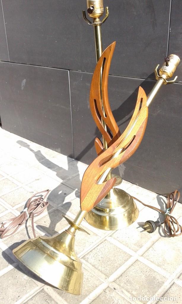 Vintage: Lámpara vintage años 50 MId Century para mesa escritorio cómoda aparador mesilla pareja disponible - Foto 3 - 118213379