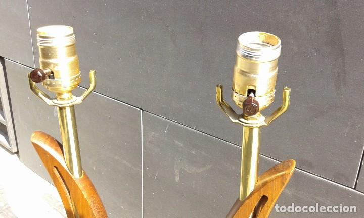 Vintage: Lámpara vintage años 50 MId Century para mesa escritorio cómoda aparador mesilla pareja disponible - Foto 5 - 118213379