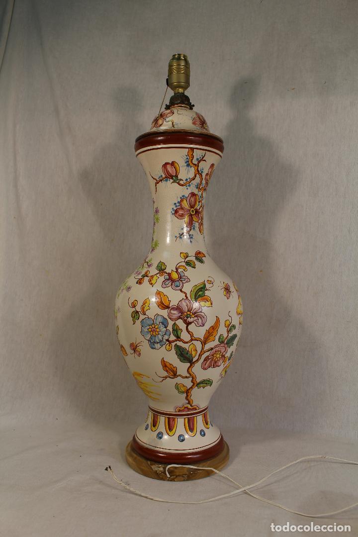 Vintage: lampara china de sobremesa en ceramica con pie de marmol - Foto 2 - 118758807
