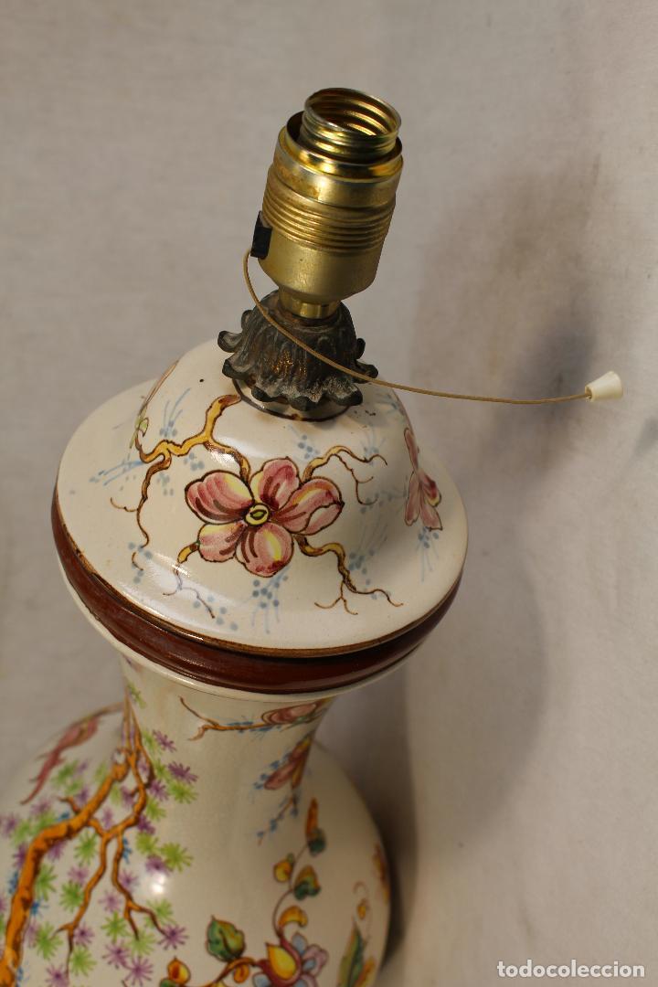 Vintage: lampara china de sobremesa en ceramica con pie de marmol - Foto 3 - 118758807