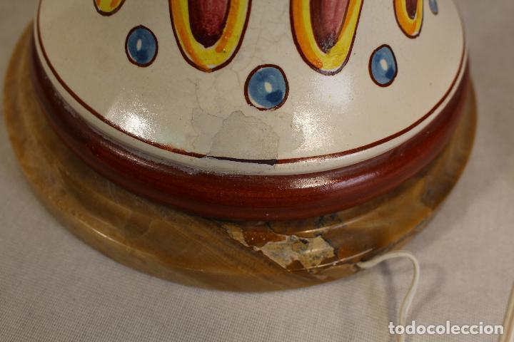 Vintage: lampara china de sobremesa en ceramica con pie de marmol - Foto 5 - 118758807